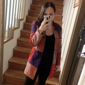 Miu Miu Color Block Coat Size 38 / Med - See Desc